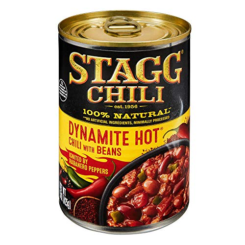 Stagg Dynamite Hot Chili with Beans, 15 Ounce (Pack of 6) ()