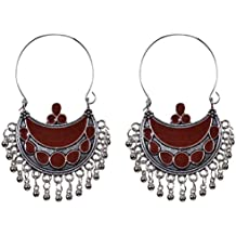 Sansar India Bollywood Kuchi Afghani Indian Earrings Jewelry for Girls and Women