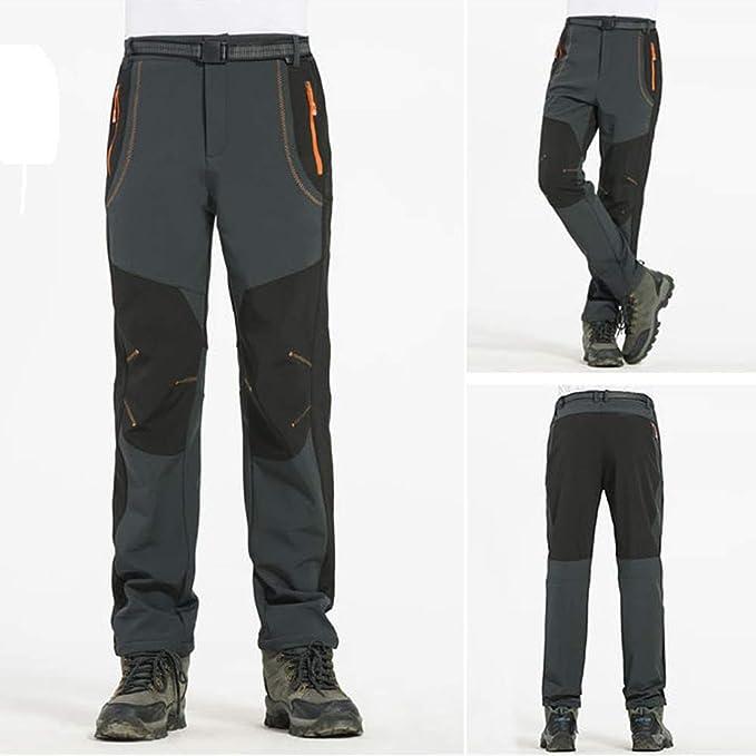 LANSKIRT/_Pantalones Trabajo Hombre Overol Acolchado de Invierno Tallas Grande para Pareja Pantalones Pantalones de Monta/ña Moto Patchwork Oto/ño S-4XL