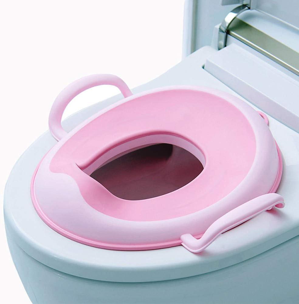 Conception Antid/érapants Reducteur WC Enfant Si/ège de Toilette Avec Poign/ée Rehausseur Toilette Enfant