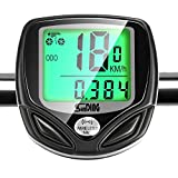 GiBot Bike Computer Wireless Waterproof Bicycle Computer with 16 Functions Speed Bike Tachometer, Bike Computer Speedometer, Cycle Speedometer with Backlight LCD Display (Black)