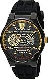 Ferrari Men's 'Speciale Multi' Quartz Stainless Steel and Silicone Casual Watch, Color:Black (Model: 0830457)