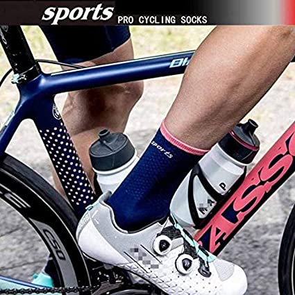 Cycling Socks DH Running SeeMees Mens athletic Classic /& Training Breathable Mid-compression Ankle support Large