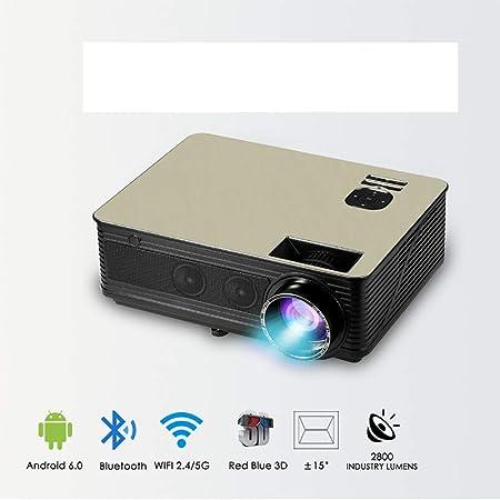 John-L Proyector de Cine en casa, proyector HD Sistema Android 6.0 ...
