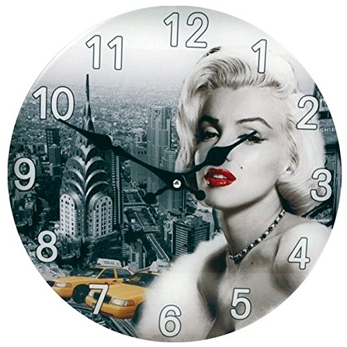 Diamantly Pendule Verre Marilyn Monroe Silvoz
