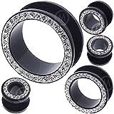 Onsale ! 0.94 per piece 8g (3mm) to 26mm gemstone acrylic flesh tunnels MoDTanOiz ** Buy 2 get $2 discount