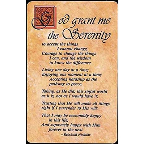 picture regarding Printable Serenity Prayer called Pocket Card Bookmark Pack of 12 Detailed Serenity Prayer