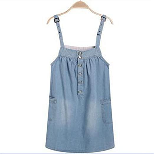 1998913dac855 Mywine Summer Suspenders Maternity Jean Dresses Loose Clothes For Pregnant  Women Comfortable Clothing Blue M