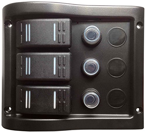 Pactrade Marine Boat 3 Gang Splash Proof Switch Panel ODM Circuit Breaker with Caps by Pactrade Marine
