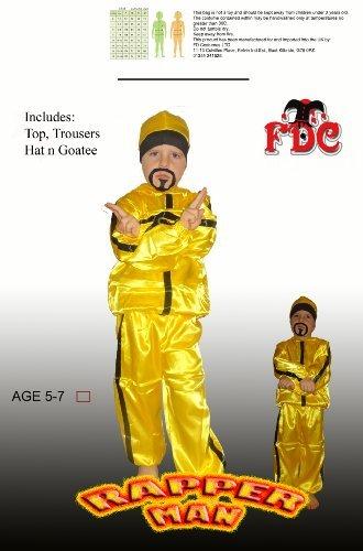 Ali G Fancy Dress Costume (Ali G Rapper Child Fancy Dress Costume By Celebration Central Age5/7yrs by FDC)