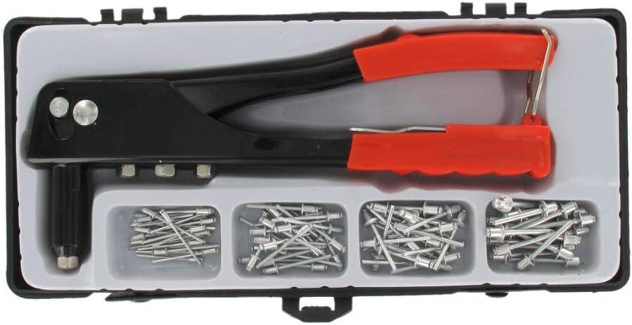 4 embouts interchangeables rivets Pince /à riveter avec 100 rivets aveugles pince /à popniettes