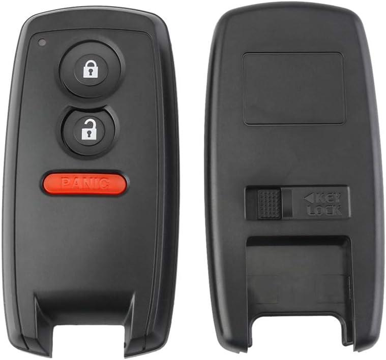 DJL1 Keyless Entry Car Key Fob Case for Suzuki Grand Vitara Swift SX4 SX-4 XL-7 2006-2012 Replacement 2+1 Buttons Remote Key Shell