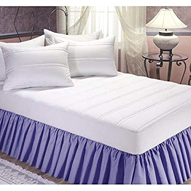 Perfect Fit Industries Wellrest Comfort 200 Thread Count Cotton Mattress Pad Queen