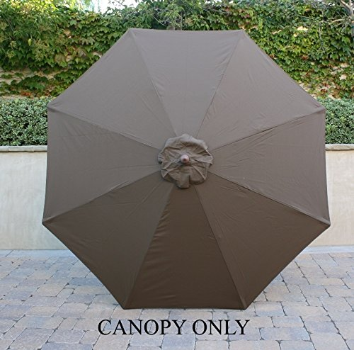 Formosa Covers 9ft Umbrella Replacement Canopy 8 Ribs in Cocoa (Canopy Only) Review