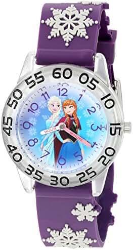 Disney Kids' W002985 Frozen Analog Display Analog Quartz Purple Watch