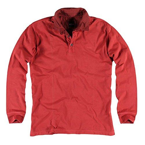engbers Herren Poloshirt langarm, 20983, Rot