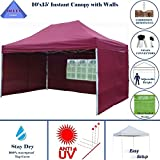 10'x15′ Pop up 4 Wall Canopy Party Tent Gazebo EZ Maroon – E Model By DELTA Canopies Review