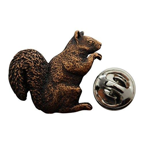Squirrel Pin ~ Antiqued Copper ~ Lapel Pin ~ Sarah's Treats & Treasures