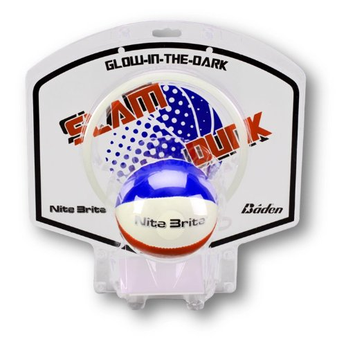Baden Nite Brite Glow-in-the-Dark Mini Ball and Hoop Set