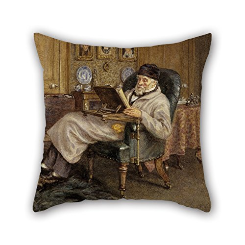 Carlyle Bunny - Pillow Shams 18 X 18 Inch / 45 By 45 Cm(twice Sides) Nice Choice For Dinning Room,monther,living Room,divan,festival Oil Painting Mrs Helen Allingham - Thomas Carlyle, 1795 - 1881. Historian And Essa