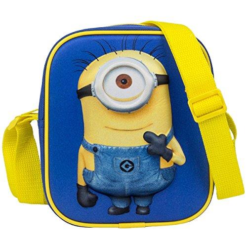 Fabrizio Minions Tasche Kindertasche Kinder Umhängetasche mit 3D-Effekt Motiv 20410-0400