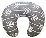 "Product review for ORGANIC Boppy Nursing Pillow Cover in ""Linen Arrows in Charcoal"""