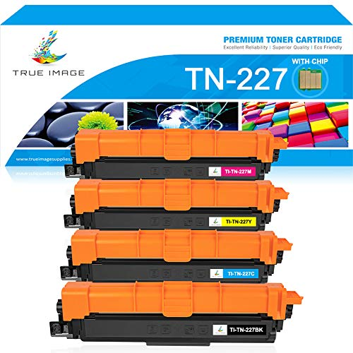 True Image Compatible Toner Cartridge Replacement for Brother TN227 TN223 MFCL3770Cdw Toner Brother HL-L3270Cdw MFC-L3770Cdw HL-L3290Cdw MFC L3710Cw L3750Cdw HL L3230Cdw L3210Cw Printer Ink With -