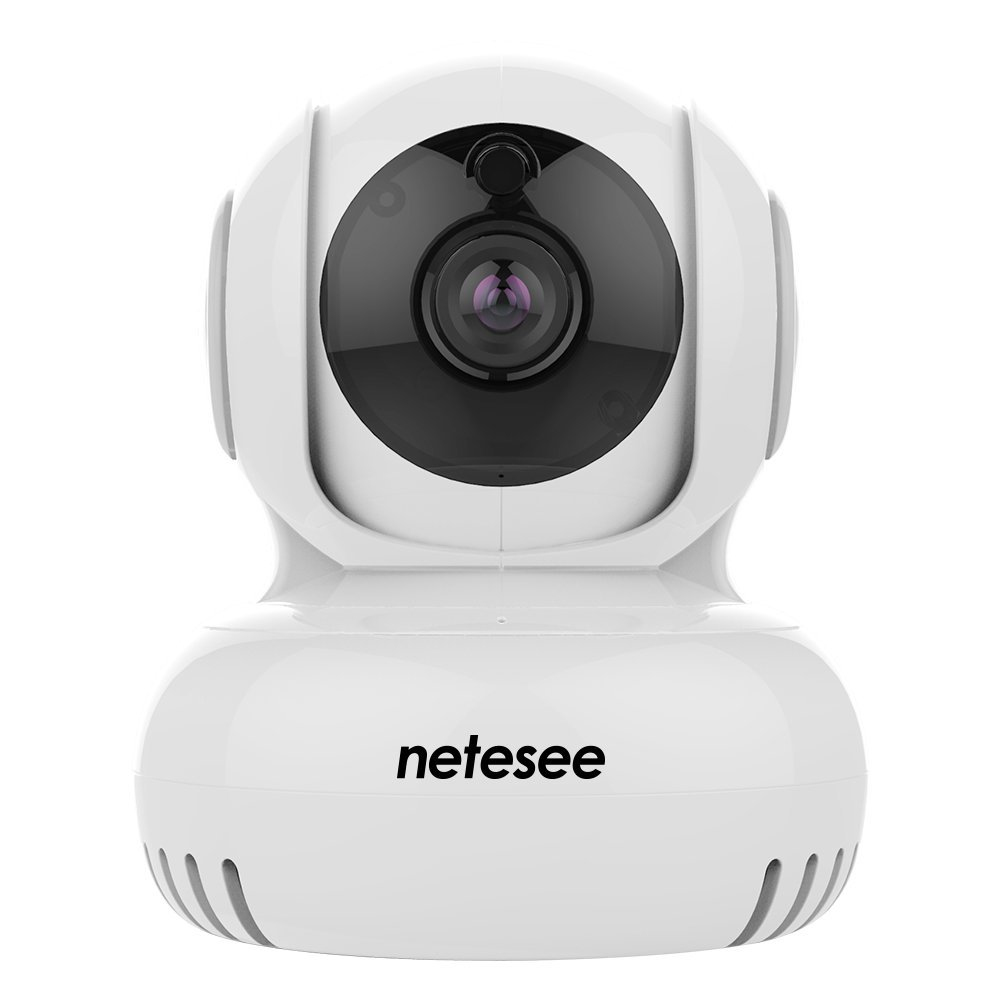 NeteSee Security Camera, 720P HD Pan/Tilt/Zoom Wireless Security Surveillance System Night Vision,for Baby /Elder/ Pet/Nanny Monitor Y1(White)