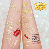 Konsait Bachelorette Party Tattoos for Bchelorette Party Supplies, Wedding Tattoos of Bridesmaid for Bridal Shower,Girls night out Tattoo with Bride Tribe Tattoos (4 Sheets)