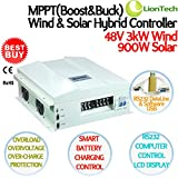 NEW 3kw 48v 90a Mppt Boost&buck Wind Solar Hybrid Charge Controller, 3000w Wind 900w Solar, Rs232 Pc Smart Control, LCD Display, Ce