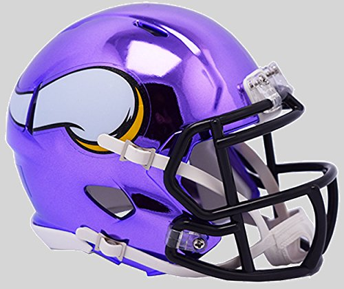Riddell Chrome Alternate NFL Speed Replica Full Size Helmet Minnesota Vikings -