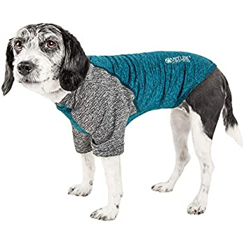 Pet Life Active 'Hybreed' 4-Way Stretch Two-Toned Performance Dog T-Shirt, Medium, Teal