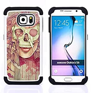 """Pulsar ( Deep Dark Goth Señora Pintura Significado"""" ) Samsung Galaxy S6 / SM-G920 SM-G920 híbrida Heavy Duty Impact pesado deber de protección a los choques caso Carcasa de parachoques [Ne"""
