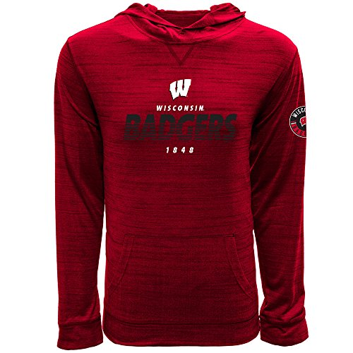 (Levelwear LEY9R NCAA Wisconsin Badgers Men's Anchor Static Pullover Hoodie, XX-Large, Heather Fire Red)