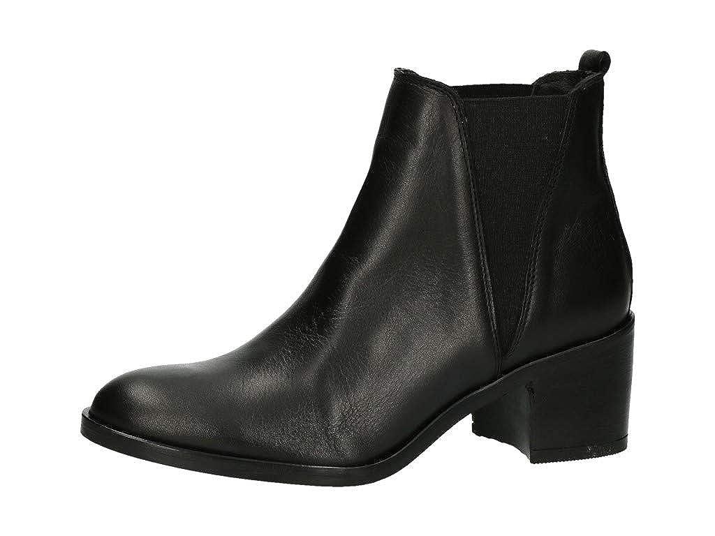 BULLBOXER Damen Chelsea Stiefel 399504E6L Frauen Stiefel Halbstiefel Stiefelette Stiefelie Schlupfstiefel Hoch Blockabsatz