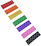Hair Barrette No Slip Baby Snap Clip Set for Fine Wispy Hair By Funny Girl Designs (Rainbow Dot)