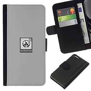 All Phone Most Case / Oferta Especial Cáscara Funda de cuero Monedero Cubierta de proteccion Caso / Wallet Case for Apple Iphone 5C // Do Not Feed - Funny