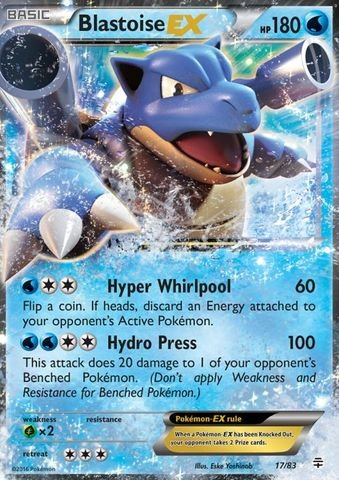 Pokemon - Blastoise-EX (17/83) - Generations - Holo (Pokemon Card Blastoise Ex)