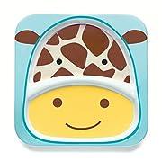Skip Hop Baby Zoo Little Kid and Toddler Melamine Feeding Divided Plate, Multi Jules Giraffe