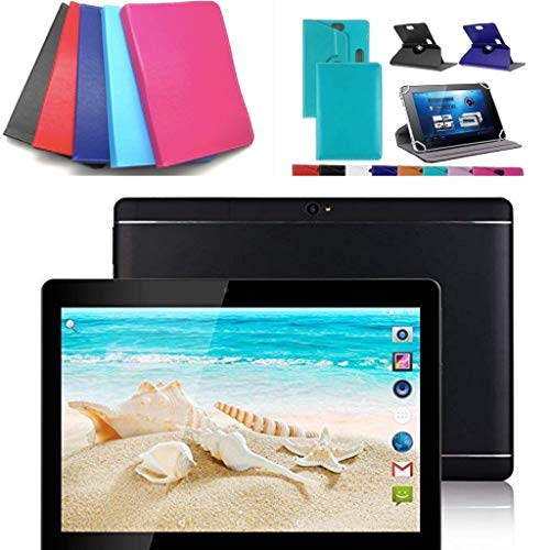10.1″ inch Android 10 Tablet with Leather Case (Blue)