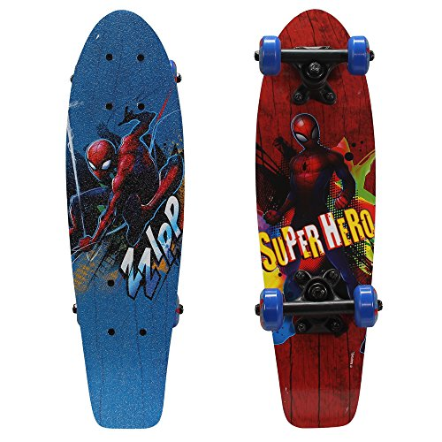 PlayWheels Ultimate Spider-Man 21'' Wood Cruiser Skateboard, Super Hero by PlayWheels