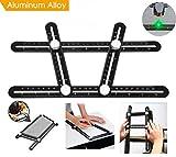 Multi Angle Ruler Template Tool Layout Tool Measurement for Handymen Builders DIY Carpenters Craftsmen