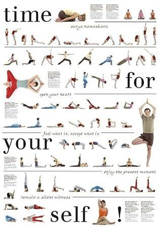 Gemeinsame Yoga-poster Mit 67 Asanas, Nice To Meet Your Self E. Peter: Amazon @YE_04