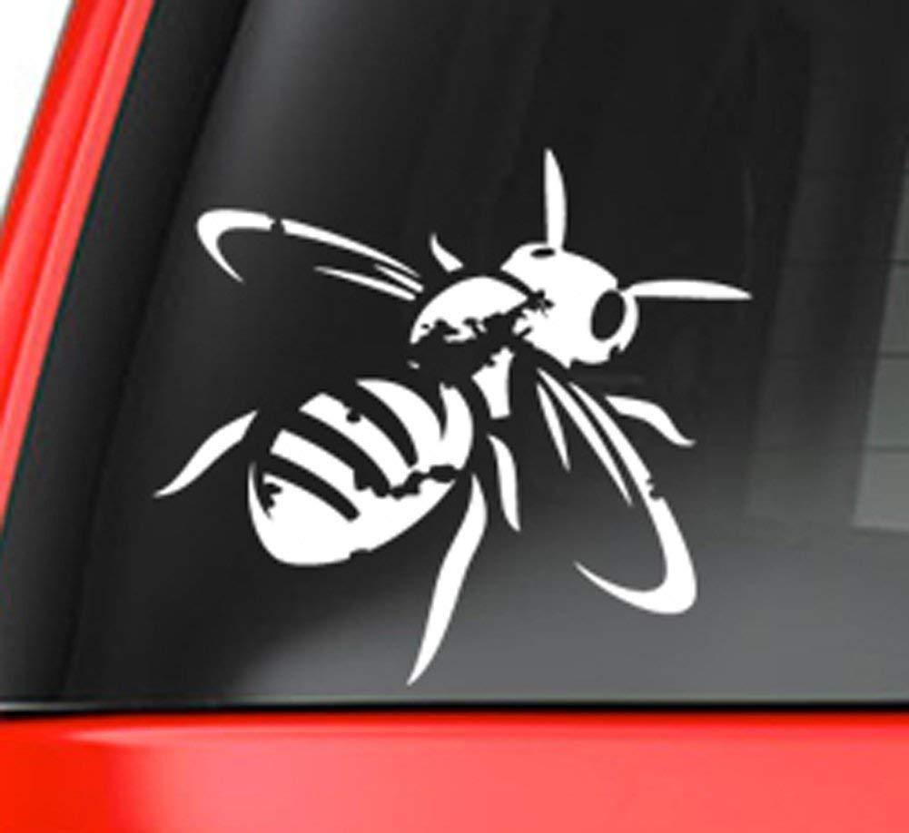 White 5 Vinyl Decal for Car Macbook Antique Honeybee Decal Sticker or Other Laptop Milk Mug Designs mmd/_AntiqueHoneyBee