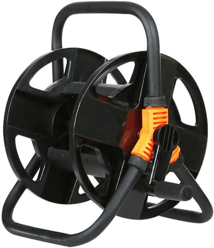 carrito de almacenamiento para manguera de almacenamiento dise/ño giratorio de 360/° carrete de manguera de riego herramienta de rack Carrete de manguera de jard/ín con conexi/ón de esquina