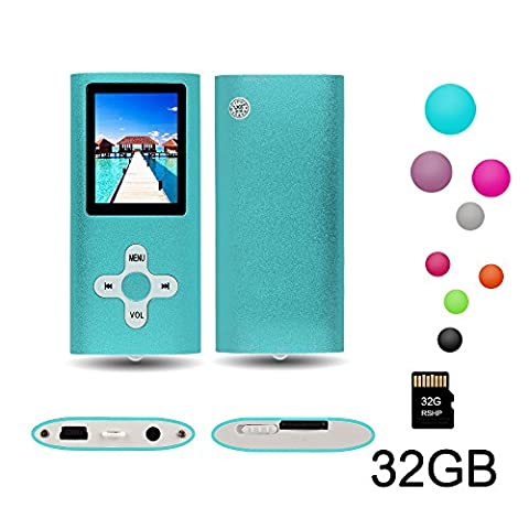 """RHDTShop MP3 MP4 Player with a 16 GB Micro SD card, Support UP to 32GB TF Card, Portable Digital Music Player / Video / Media Player / FM Radio / E-Book Reader, Ultra Slim 1.7"""" LCD Screen, (Phone Mp4)"""