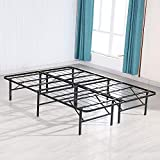 Mecor 14 inch Foldable Metal Bed Frames Deluxe/Platform Bed/Mattress Foundation,Sturdy,Quiet Noise-Free, Queen Size