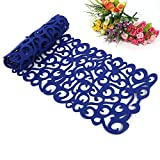 ZJchao Felt Tablecloth Runner Placemats Table