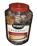 Nonni's Biscotti, Noci-cioccolati, a Light and Crunchy Almond Treat Dipped in Gourmet Chocolate-(2pound/3oz Tub)