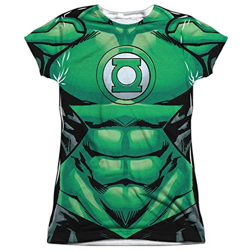 John Stewart Green Lantern Costume (Juniors: Green Lantern- Costume Tee Juniors (Slim) T-Shirt Size M)